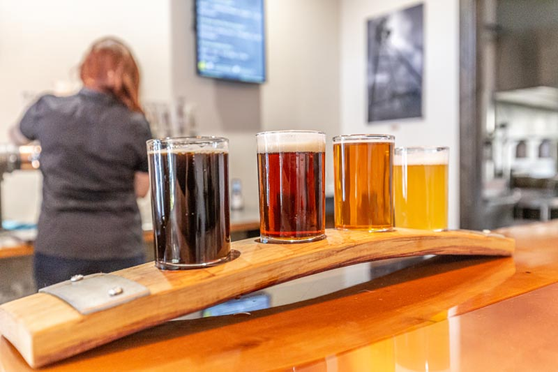 beer samples by color shade yampa valley brewing company